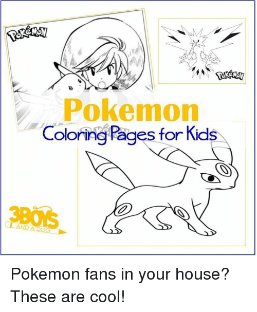 Pokemon Coloring Pages For Kids Pokemon Fans In Your House These