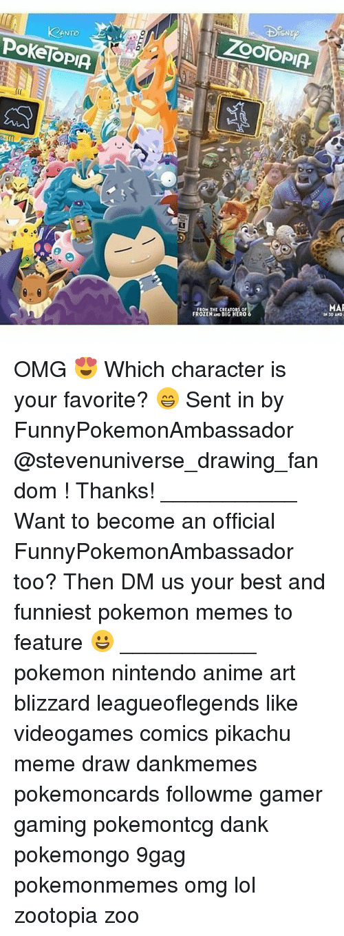 Memes, 🤖, and Hero: PokeTopIA.  FROZEN AND BIG HERO  MAR  IN 3D AND OMG 😍 Which character is your favorite? 😁 Sent in by FunnyPokemonAmbassador @stevenuniverse_drawing_fandom ! Thanks! ___________ Want to become an official FunnyPokemonAmbassador too? Then DM us your best and funniest pokemon memes to feature 😀 ___________ pokemon nintendo anime art blizzard leagueoflegends like videogames comics pikachu meme draw dankmemes pokemoncards followme gamer gaming pokemontcg dank pokemongo 9gag pokemonmemes omg lol zootopia zoo