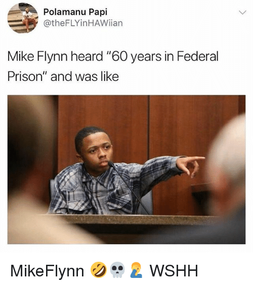 """Memes, Wshh, and Prison: Polamanu Papi  @theFLYinHAWiian  Mike Flynn heard """"60 years in Federal  Prison"""" and was like MikeFlynn 🤣💀🤦♂️ WSHH"""