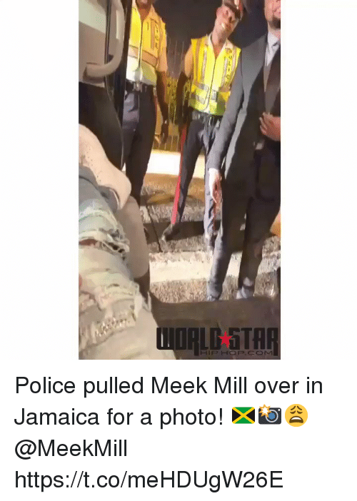 Meek Mill, Police, and Jamaica: Police pulled Meek Mill over in Jamaica for a photo! 🇯🇲📸😩 @MeekMill https://t.co/meHDUgW26E