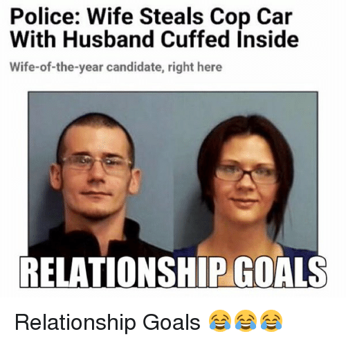cars funny and goals police wife steals cop car with husband cuffed