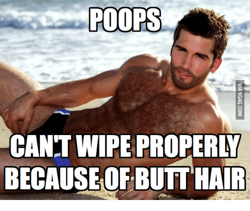 POOPS CAN'T WIPE PROPERAT BECAUSE OF BUTT HAIR | Butt Hair Meme on ME ME
