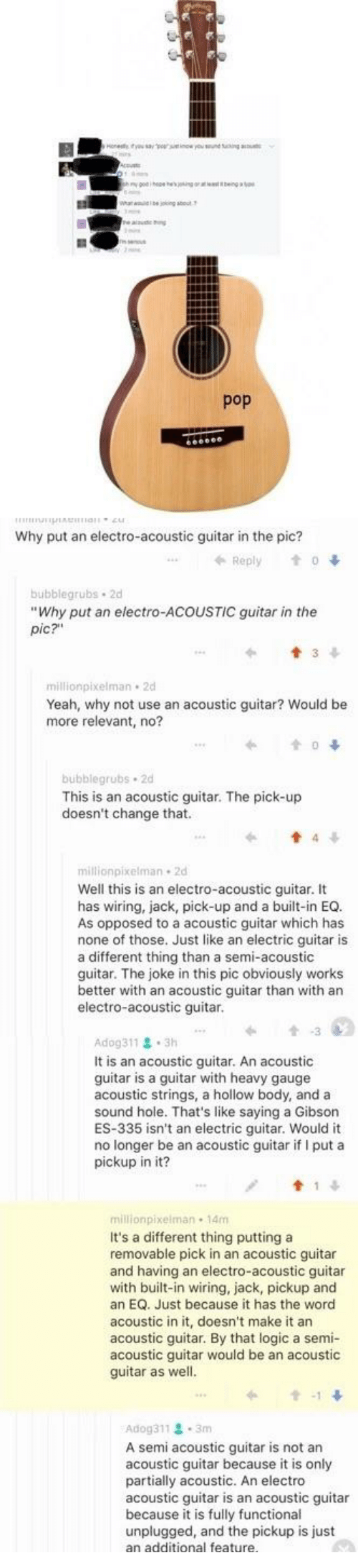 Search Gibson Guitar Memes On Sizzle Plans Further Es 355 2016 Explorer Wiring Facepalm Logic And Pop Why Put An Electro Acoustic In