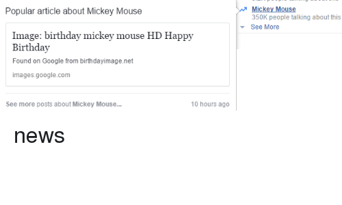 Popular Article About Mickey Mouse Image Birthday Mickey Mouse Hd