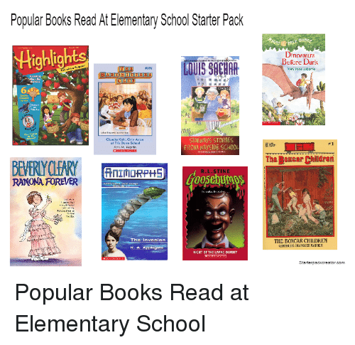 Popular Books Read At Elementary School Starter Pack Highlights