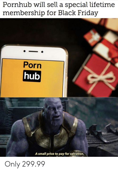 Pornhub Will Sell a Special Lifetime Membership for Black