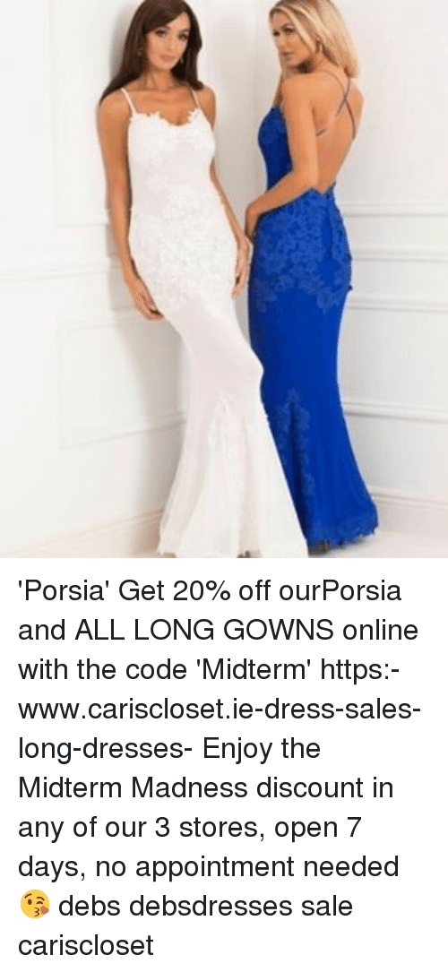 Porsia\' Get 20% Off ourPorsia and ALL LONG GOWNS Online With the ...