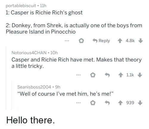 Portablebiscuit 11h 1 Casper Is Richie Rich's Ghost 2 Donkey From