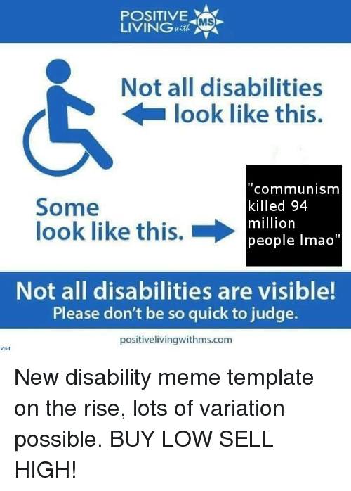 not all disabilities look like this template