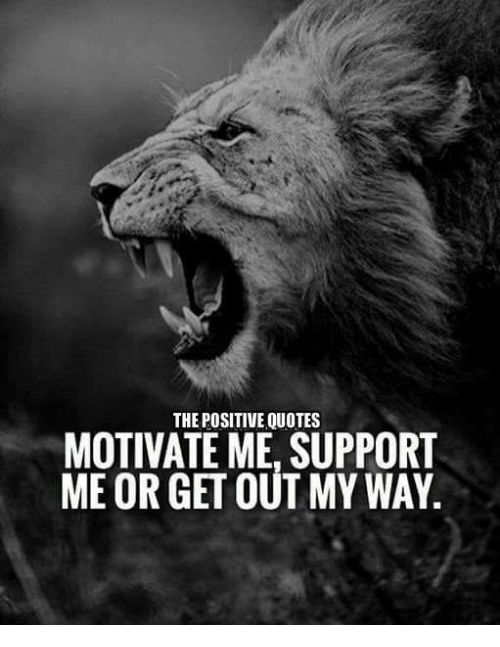 Quotes About Support   Positive Quotes Motivate Me Support Me Or Get Out My Way Quotes