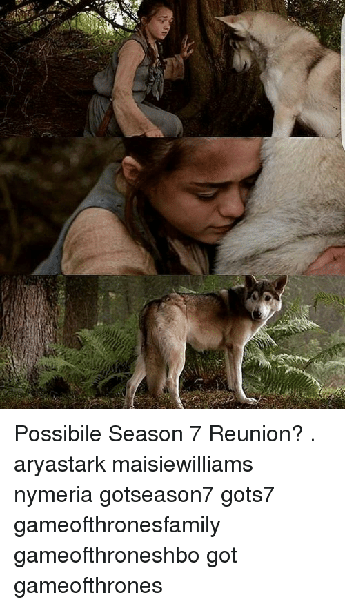 Memes, 🤖, and Got: Possibile Season 7 Reunion? . aryastark maisiewilliams nymeria gotseason7 gots7 gameofthronesfamily gameofthroneshbo got gameofthrones