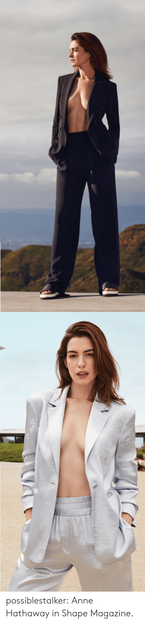 Tumblr, Anne Hathaway, and Blog: possiblestalker: Anne Hathaway in ShapeMagazine.