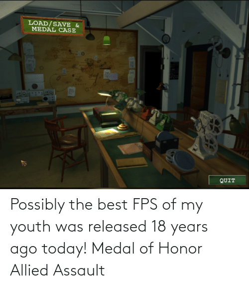 Best, Today, and Youth: Possibly the best FPS of my youth was released 18 years ago today! Medal of Honor Allied Assault