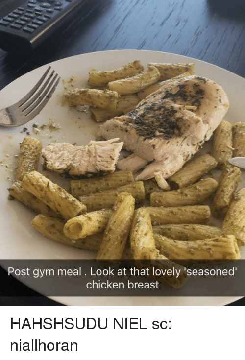 Post Gym Meal Look At That Lovely Seasoned Chicken Breast