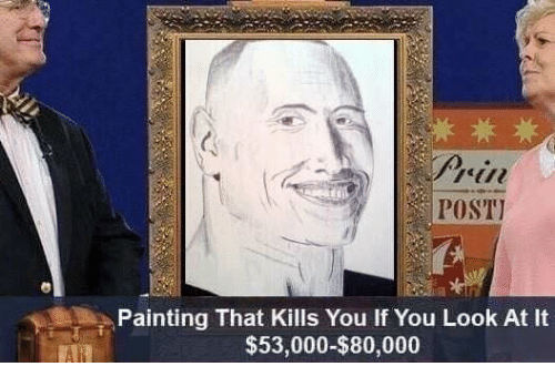 POST Painting That Kills You If You Look At It - Painting that kills you