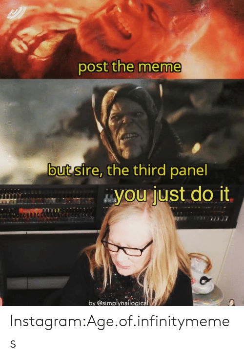 Post the Meme but Sire the Third Panel You Just Do It by