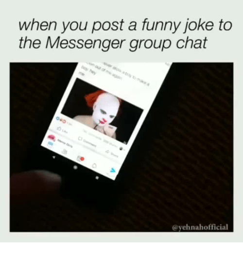 Funny, Group Chat, and Chat: Posting on group chat nowadays.