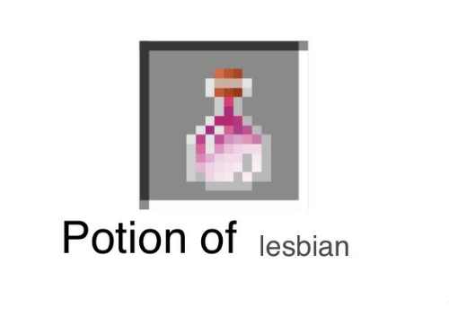 Lesbian and Potion: Potion of lesbian