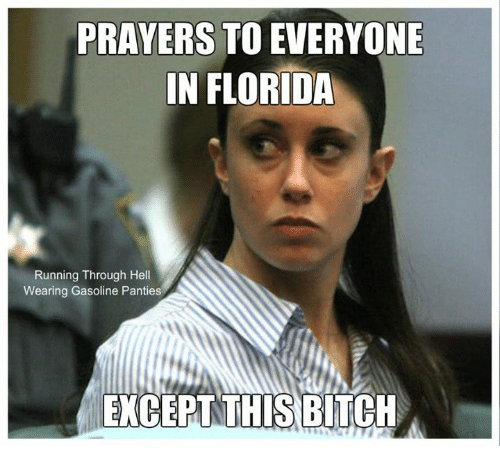 Memes, Florida, and Running: PRAVERS TO EVERYONE  IN FLORIDA  Running Through Hel  Wearing Gasoline Pantie  EXCEPTTHIS BITCU