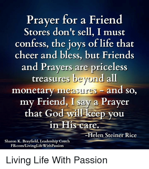 Prayer for a friend stores dont sell i must confess the joys of friends god and life prayer for a friend stores dont sell altavistaventures Image collections