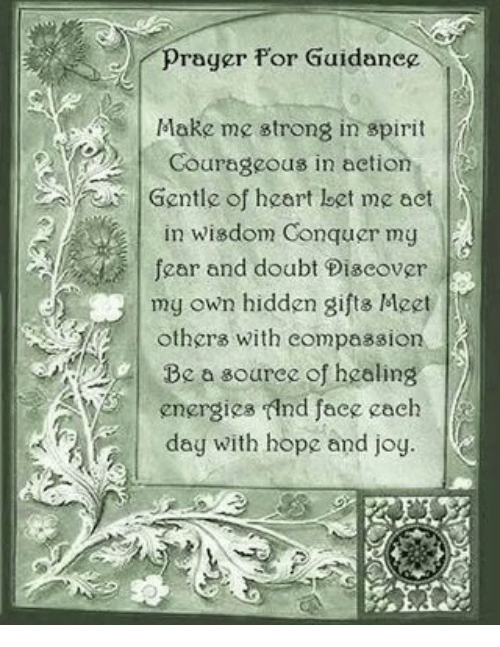 Prayer for Guidance Courageous in Action Gentle of Heart Loet Me Act