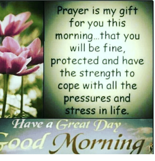 Prayer is my gift for you this morningthat you will be fine life memes and prayer prayer is my gift for you this morning negle Choice Image