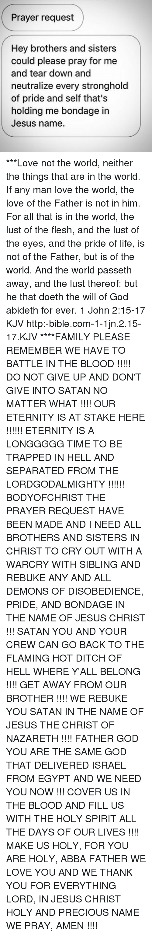 Prayer Request Hey Brothers and Sisters Could Please Pray