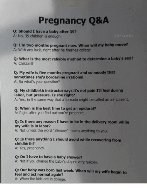 Children, College, And Pregnant: Pregnancy Qu0026A Q: Should I Have A Baby