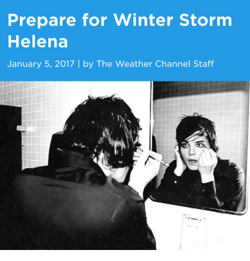 Prepare for Winter Storm Helena January 5 2017 | by the Weather