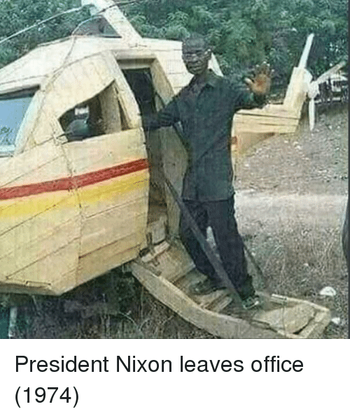 Office, Nixon, and President: President Nixon leaves office (1974)
