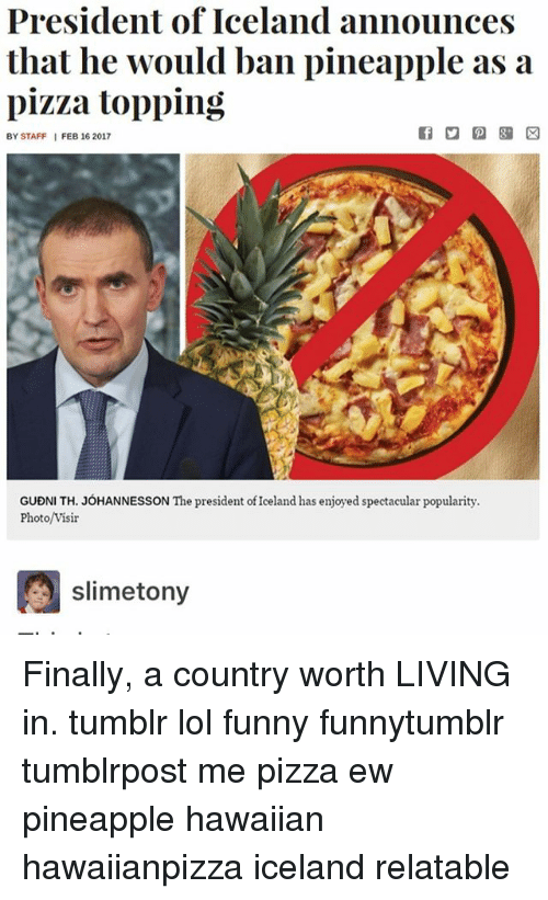 president of iceland announces that he would ban pineapple as 14939007 ✅ 25 best memes about tony meme tony memes