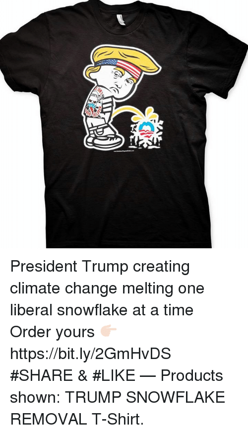 President Trump Creating Climate Change Melting One Liberal