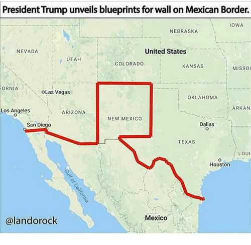 President trump unveils blueprints for wall on mexican border iowa las vegas arizona and colorado president trump unveils blueprints for wall on mexican malvernweather Images