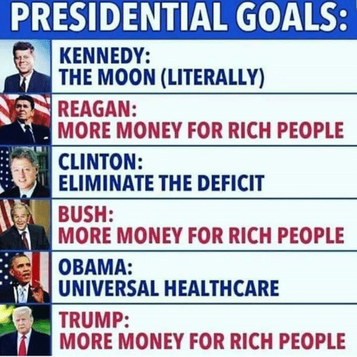 Presidential Goals Kennedy The Moon Literally Reagan More Money For