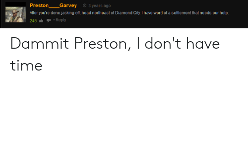 2c8acac2d9 Head, Jacking Off, and Diamond: Preston Garvey 3 years ago After you'
