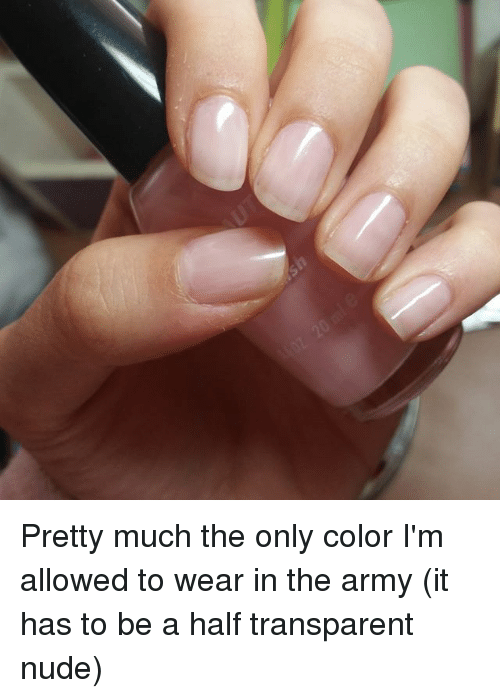 Nail Polish Colors Allowed In Army