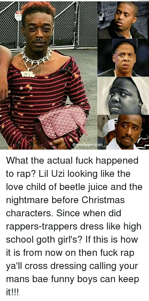 What The Actual Fuck Happened To Rap Lil Uzi Looking Like The Love