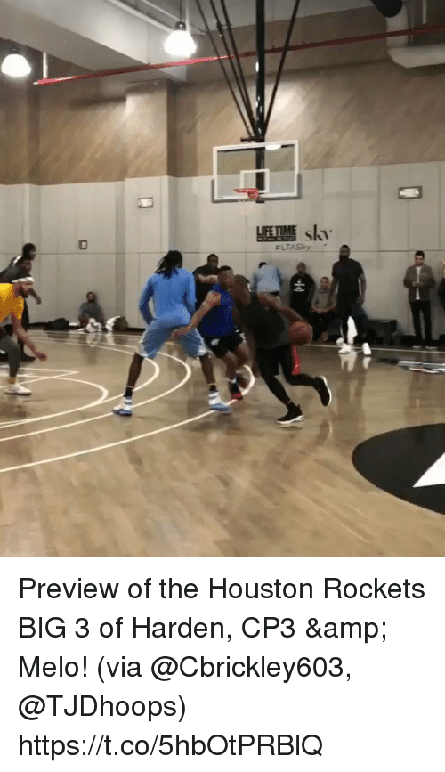 Sizzle: Preview of the Houston Rockets BIG 3 of Harden, CP3 & Melo!  (via @Cbrickley603, @TJDhoops)  https://t.co/5hbOtPRBlQ