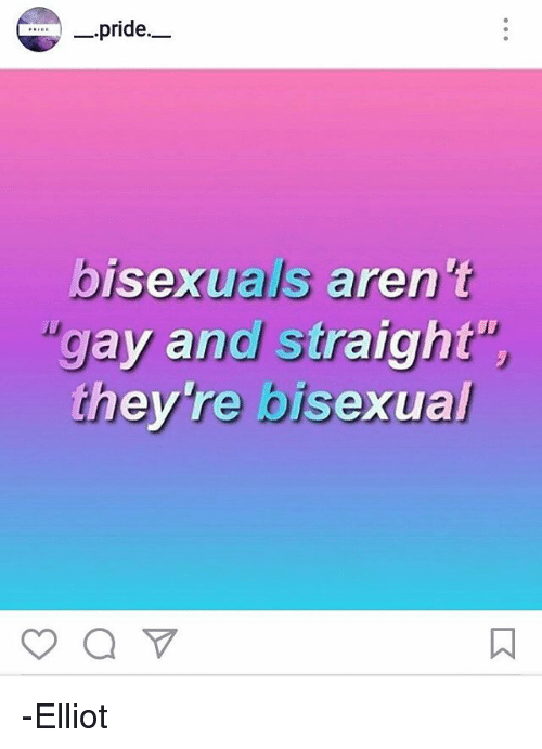 Pride Bisexuals Aren T Gay And Straight They Re Bisexual Elliot