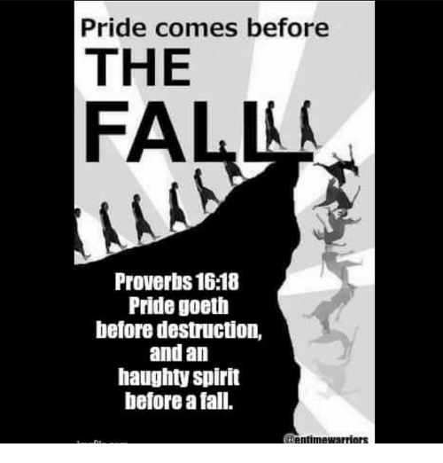 Gay pride comes before a fall