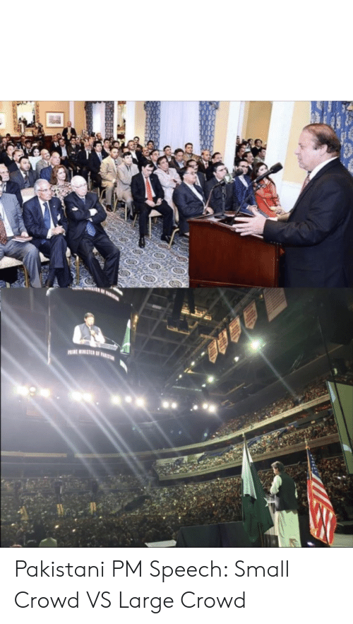 PRIE HAMETER OF PURITUON Pakistani PM Speech Small Crowd VS Large