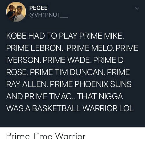 Time, Warrior, and Prime: Prime Time Warrior