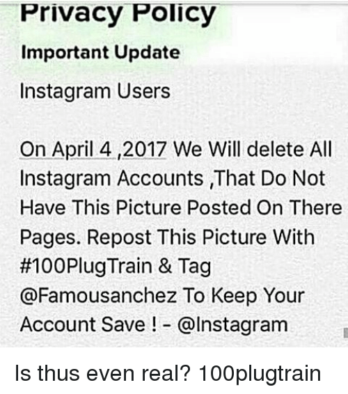 Privacy policy important update instagram users on april 42017 we instagram memes and april privacy policy important update instagram users on april 4 ccuart Choice Image
