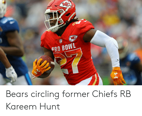official photos 6510a 71dc5 PRO BOWL Bears Circling Former Chiefs RB Kareem Hunt | Bears ...