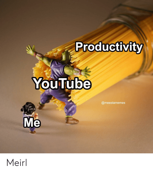 youtube.com, MeIRL, and Productivity: Productivity  YouTube  @meestamemes  Me Meirl