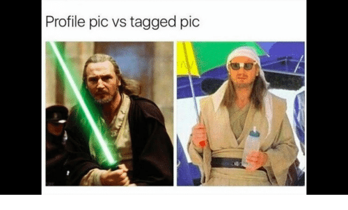 Tagged, Pic, and Profile Pic: Profile pic vs tagged pic