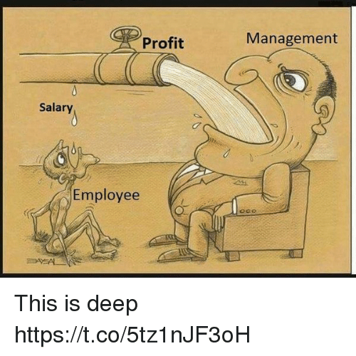 Memes, 🤖, and Deep: Profit  Management  Salary  Employee This is deep https://t.co/5tz1nJF3oH