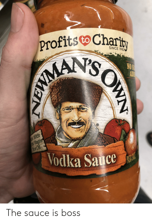 Vodka, Sauce, and Accidental Racism: profits Charit  SINCE 1982  NO S  AD  EMIMAN'S  e With  Vingin  Mce O1f  Vodka Sauce  WN The sauce is boss