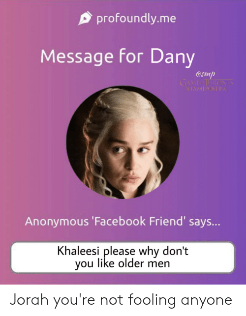 Profoundlyme Message for Dany Camp GAME SHAMEPOSTING