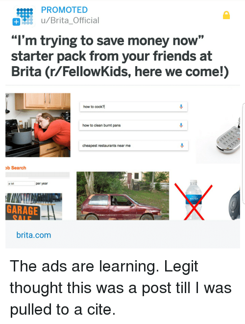 Promoted Ubritaofficial M Trying To Save Money Now Starter Pack
